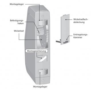 Rademacher RolloTron Schwenkwickler Standard Minigurt 1550 elektrischer Aufputz Gurtwickler Motor, weiß, ohne Display, 30 kg Zugleistung, 15mm Rolladengurt, 1550-UW - Vorschau 3