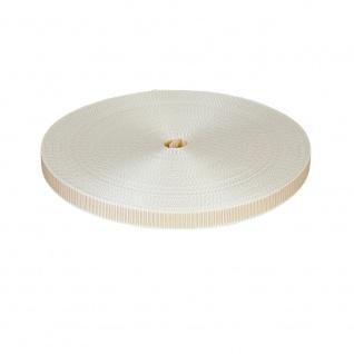Gurtband Rolladen Gurt Maxi 22 mm, beige, 50m Rolle, Rolladenband, Rolladenseil