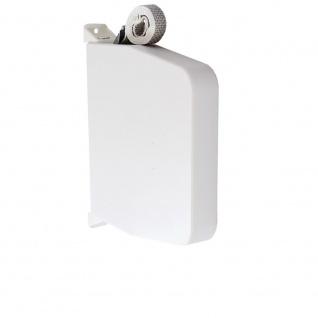 Aufschraubwickler Aufputz Gurtwickler Mini für Rolladen, 11 m Gurtband / Rolladengurt, weiß