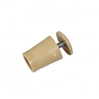 10 x Anschlagstopper / Anschlagpuffer 28mm, beige