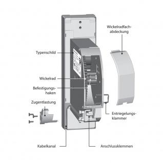 Rademacher RolloTron Standard 1340 UW elektrischer Rolladen Unterputz Gurtwickler, weiß, 45 kg Zugleistung, 15mm Mini Rolladengurt - Vorschau 4