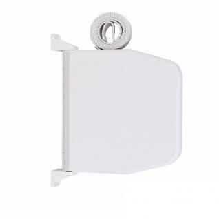 Selve Aufschraubwickler Mini Aufputz Gurtwickler aufklappbar Scharniersystem Rolladen weiß, 5 m Gurtband Rolladengurt grau