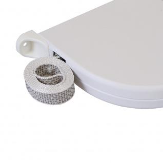 25 x Aufschraubwickler Mini Aufputz Gurtwickler Rolladen weiß, 5 m Gurtband Rolladengurt grau, Runddesign - Vorschau 5