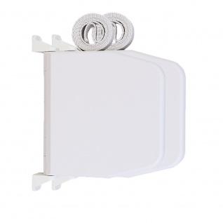 2 x Selve Aufschraubwickler Mini Aufputz Gurtwickler aufklappbar Scharniersystem Rolladen weiß, 5 m Gurtband Rolladengurt grau