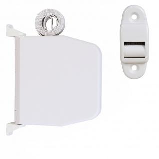 Selve Aufschraubwickler Mini Aufputz Gurtwickler aufklappbar Scharniersystem Rolladen weiß, 5 m Gurtband Rolladengurt grau inkl. Gurtdurchführung