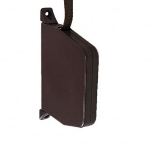 Aufschraubwickler Mini Aufputz Gurtwickler Rolladen braun, 5 m Gurtband Rolladengurt braun, Einzugautomatik bei Gurtbandwechsel