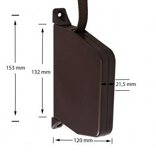 2 x Aufschraubwickler Mini Aufputz Gurtwickler Rolladen braun, 5 m Gurtband Rolladengurt braun, Einzugautomatik bei Gurtbandwechsel