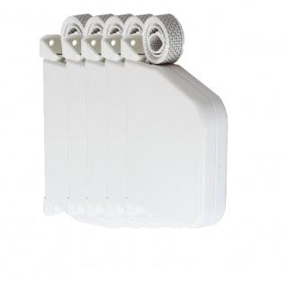 5 x Aufschraubwickler Aufputz Gurtwickler Mini für Rolladen, 7 m Gurtband / Rolladengurt, weiß
