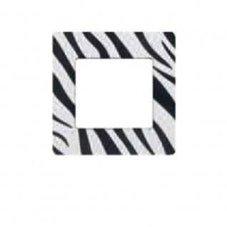 Simu Rahmen 80x80mm für alle Hz Funk Wandsender Farbe Zebra | Design Wechselrahmen