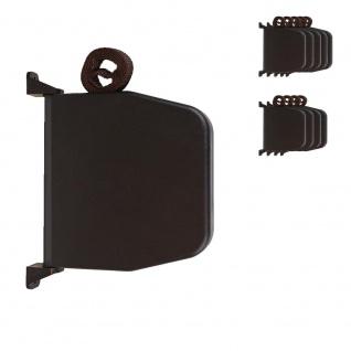 10 x Selve Aufschraubwickler Mini Aufputz Gurtwickler aufklappbar Scharniersystem Rolladen braun, 5 m Gurtband Rolladengurt braun