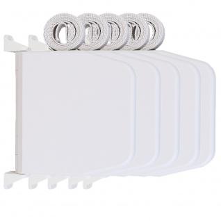 5 x Selve Aufschraubwickler Mini Aufputz Gurtwickler aufklappbar Scharniersystem Rolladen weiß, 5 m Gurtband Rolladengurt grau