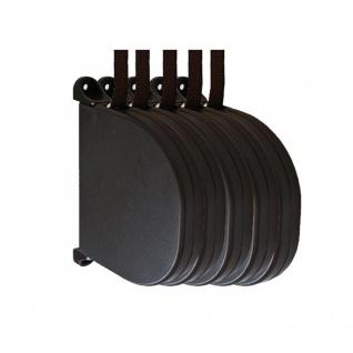 5 x Aufschraubwickler Mini Aufputz Gurtwickler Rolladen braun, 5 m Gurtband Rolladengurt braun, Runddesign - Vorschau 1