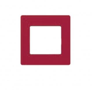 Simu Rahmen 80x80mm für alle Hz Funk Wandsender Farbe Himbeerrot | Design Wechselrahmen