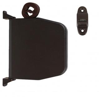 Selve Aufschraubwickler Mini Aufputz Gurtwickler aufklappbar Scharniersystem Rolladen braun, 5 m Gurtband Rolladengurt braun inkl. Gurtdurchführung