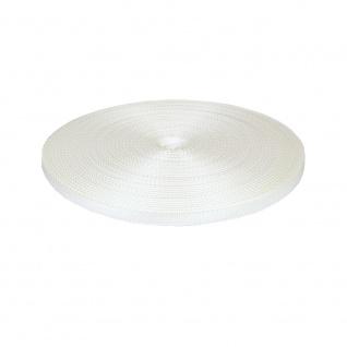 Gurtband Rolladen Gurt Mini 14 mm, weiß, 50m Rolle, Rolladenband, Rolladenseil