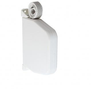 Aufschraubwickler Aufputz Gurtwickler Mini für Rolladen, 7 m Gurtband / Rolladengurt, weiß