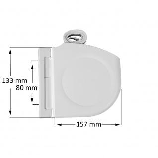 Design Aufschraubwickler Aufputz Gurtwickler Mini für Rolladen, 5 m Gurtband / Rolladengurt, weiß