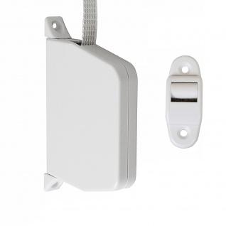 10 x Aufschraubwickler Mini Aufputz Gurtwickler Rolladen weiß, 5 m Gurtband Rolladengurt grau, Einzugautomatik bei Gurtbandwechsel inkl. Gurtdurchführung