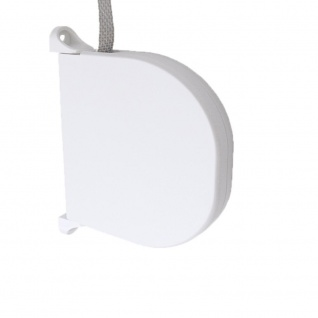 Aufschraubwickler Mini Aufputz Gurtwickler Rolladen, weiß, 5 m Gurtband Rolladengurt grau, Runddesign
