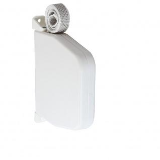 Aufschraubwickler Aufputz Gurtwickler Mini für Rolladen, 5 m Gurtband / Rolladengurt, weiß
