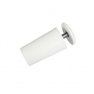 10 x Anschlagstopper / Anschlagpuffer 40mm, weiß