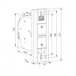 Rademacher RolloTron Basis 1100 UW elektrischer Rolladen Unterputz Gurtwickler, weiß, 45 kg Zugleistung, 23mm Rolladengurt