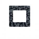 Simu Rahmen 80x80mm für alle Hz Funk Wandsender Farbe Lilie | Design Wechselrahmen