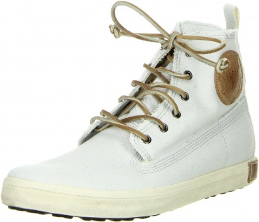 Blackstone Herren High- Top Sneaker weiß