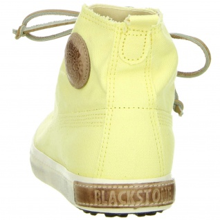 Blackstone Damen High- Top Sneaker Halbschuhe gelb