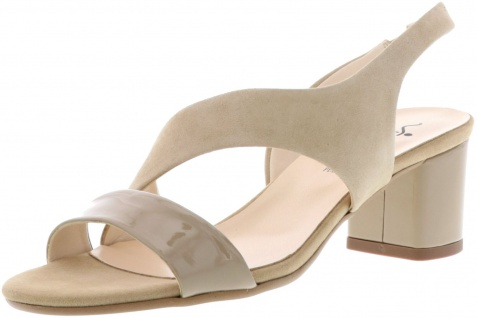 Vista Damen Sandaletten Sling Pumps High Heels beige
