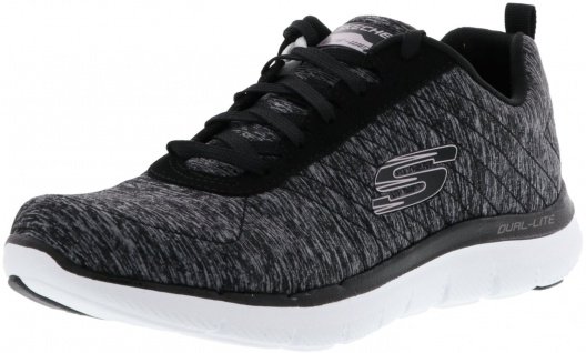 SKECHERS 12753/BKRG Flex Appeal 2.0 Damen Sneaker schwarz/rose gold