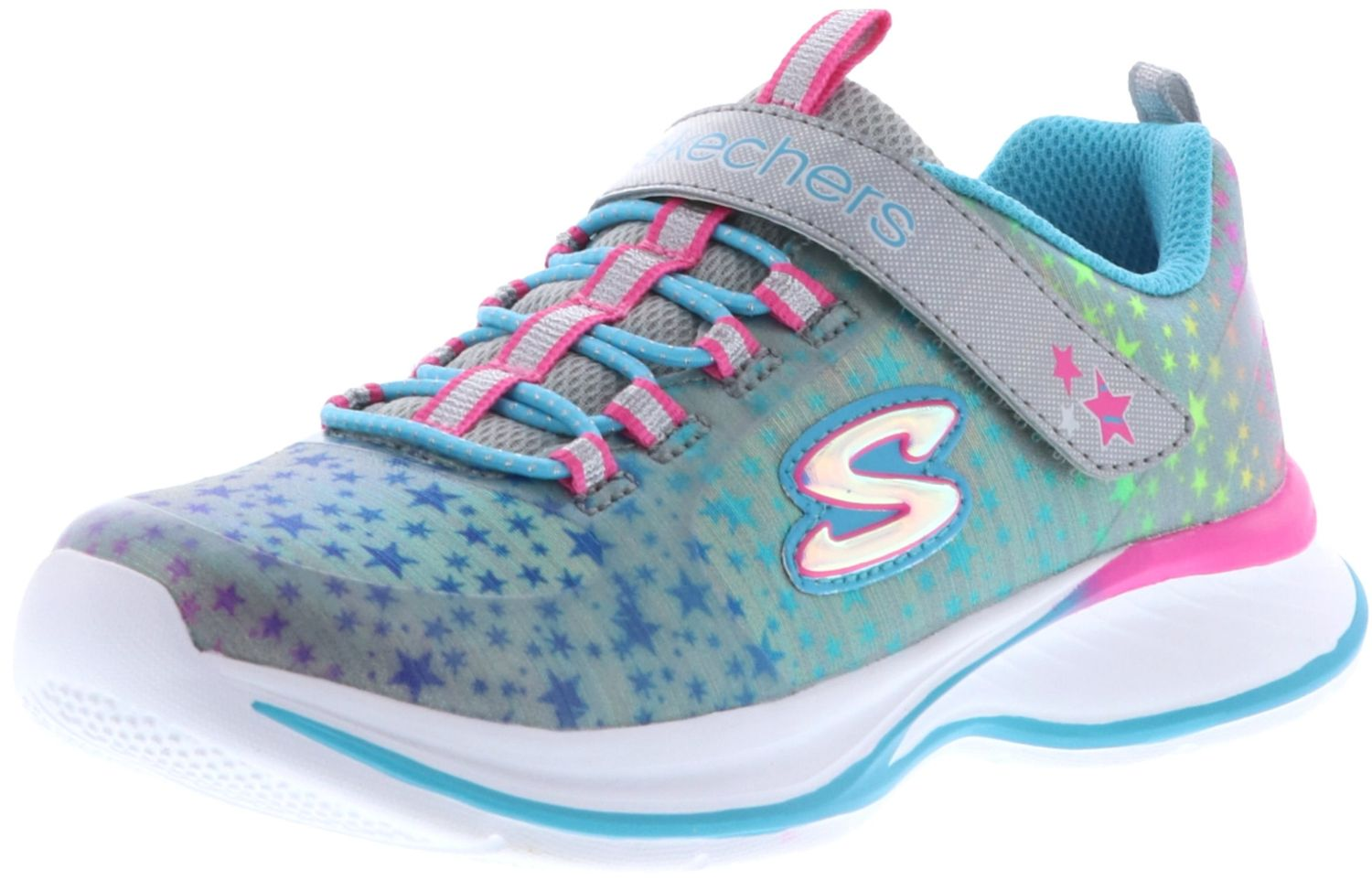 coupon codes cheap official photos SKECHERS 81390L/GYMT Jumpin' Jams-Cosmic Cutie Mädchen Sneaker  grau/blau/pink