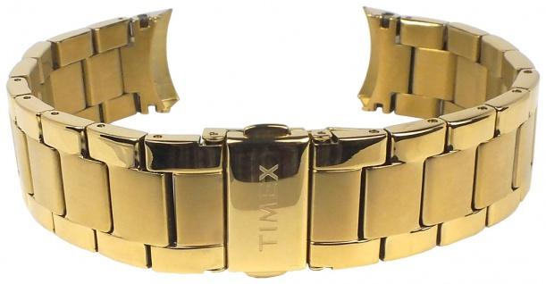 Timex | Ersatzband Uhrenarmband Edelstahl Band matt/glänzend gelbgoldfarben TW2P66900 TW2P66800 TW2P70000 - Vorschau 2