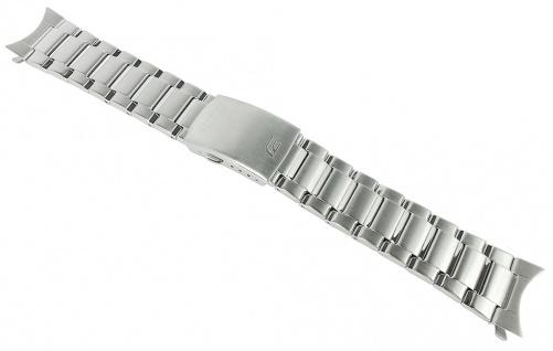Casio Armband | Uhrenarmband Edelstahl Band Silberfarben für Edifice EFS-S500DB