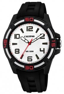 Calypso analoge Quarzuhr aus Kunststoff mit Silikonband schwarz K5760/1