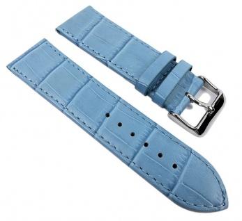 Minott Big Fashion - Louis. Prägung Uhrenarmband Kalbsleder Band Blau 21926S