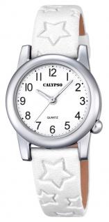 Calypso Kinderarmbanduhr Quarzuhr Analoguhr Lederband mit Sternprägung K5708
