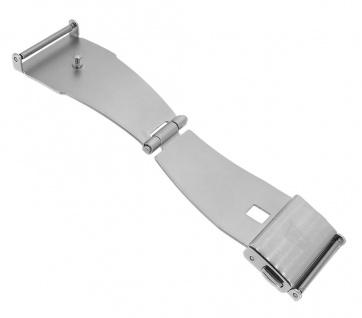 Festina Automatic Faltschließe 18mm silbern mit seitlichen Drückern mit Logo F6847