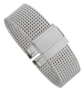 Minott Milanaise | Uhrenarmband Edelstahl Band silberfarben mit verstellbarem Verschluss 30667