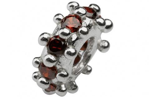 Charlot Borgen Marken Damen Bead Beads Drops Silber mit Zirkonia SCZ-07-Rot