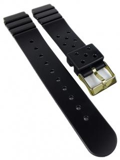 HIRSCH | Uhrenarmband > Kunststoffband > Edelstahl Dornschließe | schwarz | 36696
