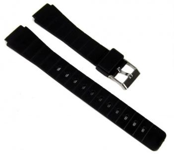 Minott Uhrenarmband Kunststoff Band schwarz 16mm