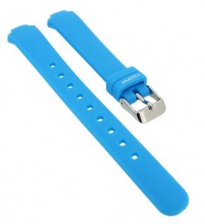 Calypso Ersatzband aus Silikon in blau mit Schließe silberfarben Spezial Anstoß => K6069/2