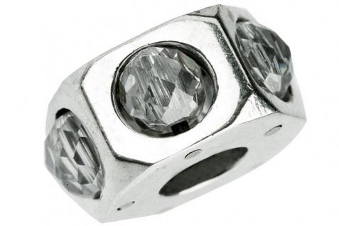 Charlot Borgen Marken Damen Bead Beads Drops Silber mit Zirkonia SCZ-18-Weiß