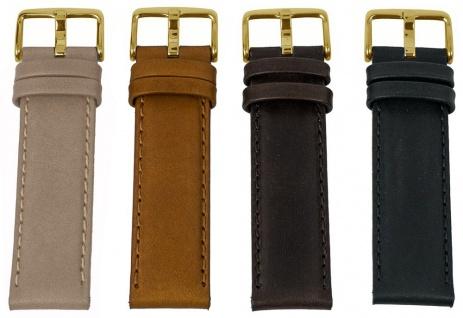 Barington Uhrenarmband Kalbsleder | Ersatzband 18mm, 20mm, 22mm mit Naht - 805G
