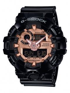 Casio G-Shock Herren Armbanduhr schwarz Resin Weltzeitfunktion GA-700MMC-1AER