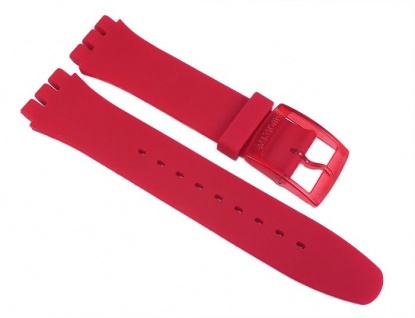 Swatch Red Lacqered Uhrenarmband Silikon Band Rot 19mm für New Gent SUOR101