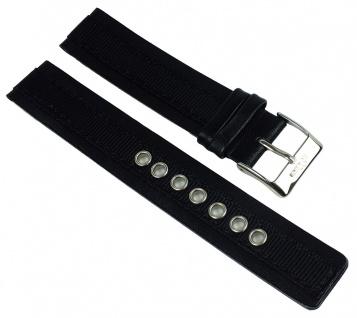s.Oliver Ersatzband 18mm Leder/ Textil schwarz gleichlaufend SO-1265-LQ