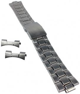 Casio Armband | Uhrenarmband Edelstahl Band Silberfarben für Edifice EF-327ZD