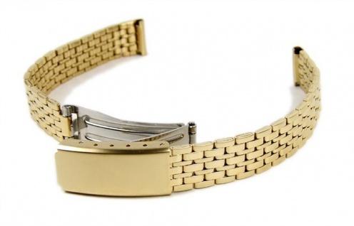 Uhrenarmband Edelstahl Band IP gelbgoldfarben 12mm Minott 18297